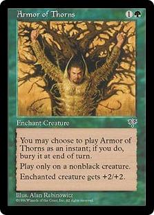 《茨の鎧/Armor of Thorns》[MIR] 緑C