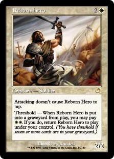 《生まれ変わった勇士/Reborn Hero》[TOR] 白R