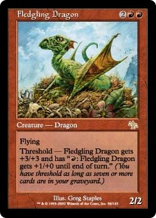 【Foil】《巣立つドラゴン/Fledgling Dragon》[JUD] 赤R