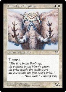 《鉄の象牙/Iron Tusk Elephant》[MIR] 白U