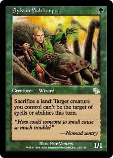 《森を護る者/Sylvan Safekeeper》[JUD] 緑R