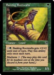 《日を浴びるルートワラ/Basking Rootwalla》[TOR] 緑C