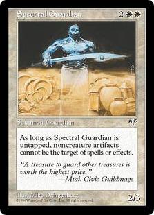 《実体なき守護者/Spectral Guardian》[MIR] 白R