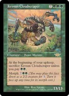 《クローサの雲掻き獣/Krosan Cloudscraper》[LGN] 緑R