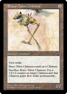 《真鍮の鉤爪のキマイラ/Brass-Talon Chimera》[VIS] 茶U