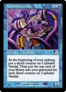 《セファリッドの文化破壊者/Cephalid Vandal》[TOR] 青R