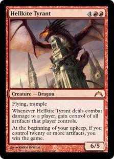 《ヘルカイトの暴君/Hellkite Tyrant》[GTC] 赤R
