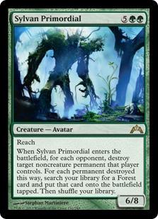 《森林の始源体/Sylvan Primordial》[GTC] 緑R