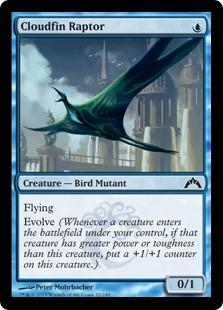 《雲ヒレの猛禽/Cloudfin Raptor》[GTC] 青C