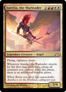 《戦導者オレリア/Aurelia, the Warleader》[GTC] 金R