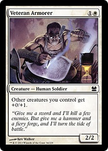 《古参兵の武具師/Veteran Armorer》[MMA] 白C
