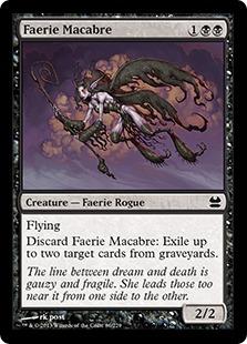 《フェアリーの忌み者/Faerie Macabre》[MMA] 黒C