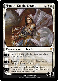《遍歴の騎士、エルズペス/Elspeth, Knight-Errant》[MMA] 白R