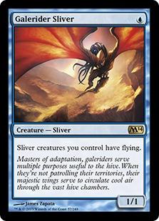 《風乗りスリヴァー/Galerider Sliver》[M14] 青R