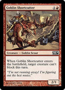 《ゴブリンの近道抜け/Goblin Shortcutter》[M14] 赤C