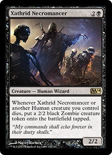 【Foil】《ザスリッドの屍術師/Xathrid Necromancer》[M14] 黒R