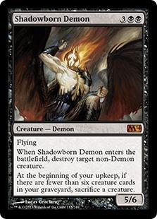 《影生まれの悪魔/Shadowborn Demon》[M14] 黒R