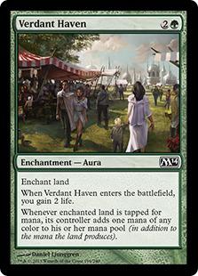 《新緑の安息所/Verdant Haven》[M14] 緑C