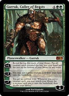 《獣の統率者、ガラク/Garruk, Caller of Beasts》[M14] 緑R