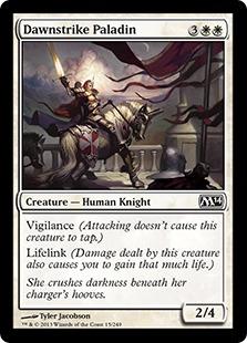 《暁駆けの聖騎士/Dawnstrike Paladin》[M14] 白C