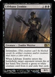 《生命散らしのゾンビ/Lifebane Zombie》[M14] 黒R