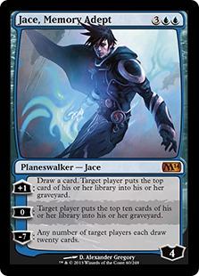 《記憶の熟達者、ジェイス/Jace, Memory Adept》[M14] 青R