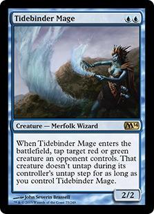 《潮縛りの魔道士/Tidebinder Mage》[M14] 青R