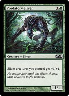 《捕食スリヴァー/Predatory Sliver》[M14] 緑C