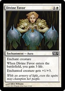 《神聖なる好意/Divine Favor》[M14] 白C