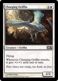 【Foil】《突進するグリフィン/Charging Griffin》[M14] 白C