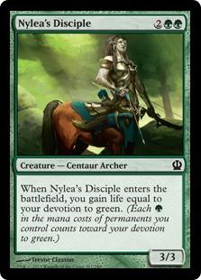 《ナイレアの信奉者/Nylea's Disciple》[THS] 緑C