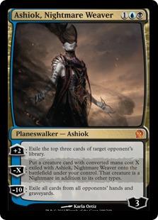 《悪夢の織り手、アショク/Ashiok, Nightmare Weaver》[THS] 金R