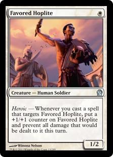 《恩寵の重装歩兵/Favored Hoplite》[THS] 白U