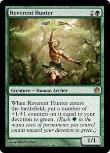 《恭しき狩人/Reverent Hunter》[THS] 緑R