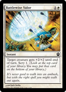 【Foil】《戦識の武勇/Battlewise Valor》[THS] 白C
