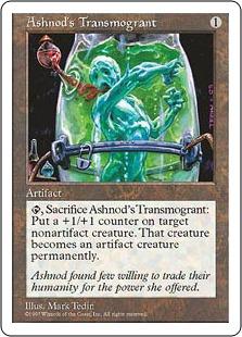 《アシュノッドの人体改造器/Ashnod's Transmogrant》[5ED] 茶C