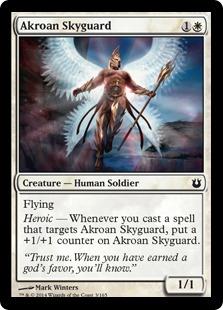 《アクロスの空護衛/Akroan Skyguard》[BNG] 白C