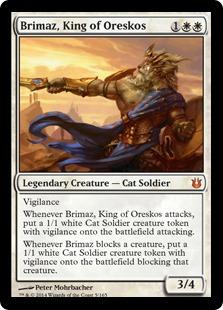 《オレスコスの王、ブリマーズ/Brimaz, King of Oreskos》[BNG] 白R