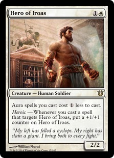 【Foil】《イロアスの英雄/Hero of Iroas》[BNG] 白R