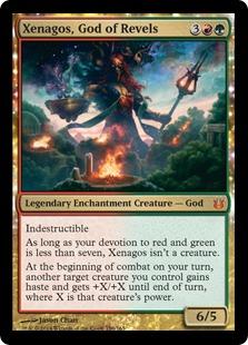 《歓楽の神、ゼナゴス/Xenagos, God of Revels》[BNG] 金R
