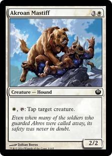 《アクロスの猛犬/Akroan Mastiff》[JOU] 白C