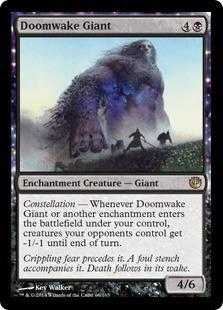 《破滅喚起の巨人/Doomwake Giant》[JOU] 黒R