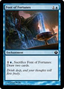 《運命の泉/Font of Fortunes》[JOU] 青C