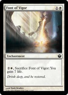 【Foil】《活力の泉/Font of Vigor》[JOU] 白C