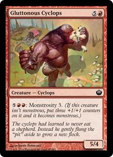 《暴食するサイクロプス/Gluttonous Cyclops》[JOU] 赤C