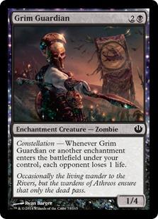 《厳かな守護者/Grim Guardian》[JOU] 黒C