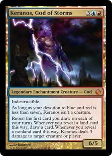 《嵐の神、ケラノス/Keranos, God of Storms》[JOU] 金R