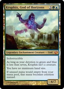 【Foil】《彼方の神、クルフィックス/Kruphix, God of Horizons》[JOU] 金R