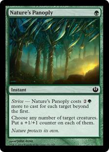 《自然からの武装/Nature's Panoply》[JOU] 緑C