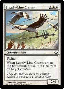 【Foil】《補給線の鶴/Supply-Line Cranes》[JOU] 白C